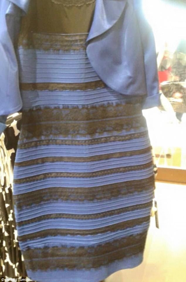 Internet sensation: This picture of the dress has sparked debate, with viewers disagreeing over the color