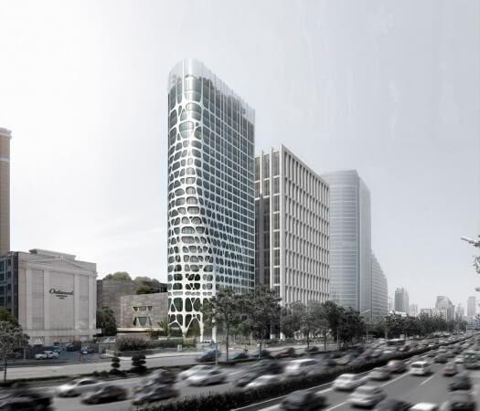 conrad hotel day view 525x450 14 Futuristic Building Designs in China