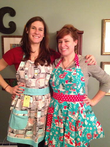 Seesters wearin' aprons