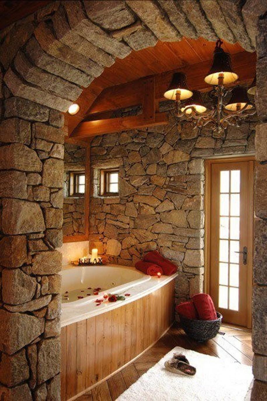 25 Rustic Bathroom Design Ideas - Decoration Love