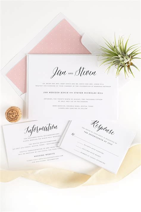 Rustic Wedding Invitations in Blush ? Wedding Invitations