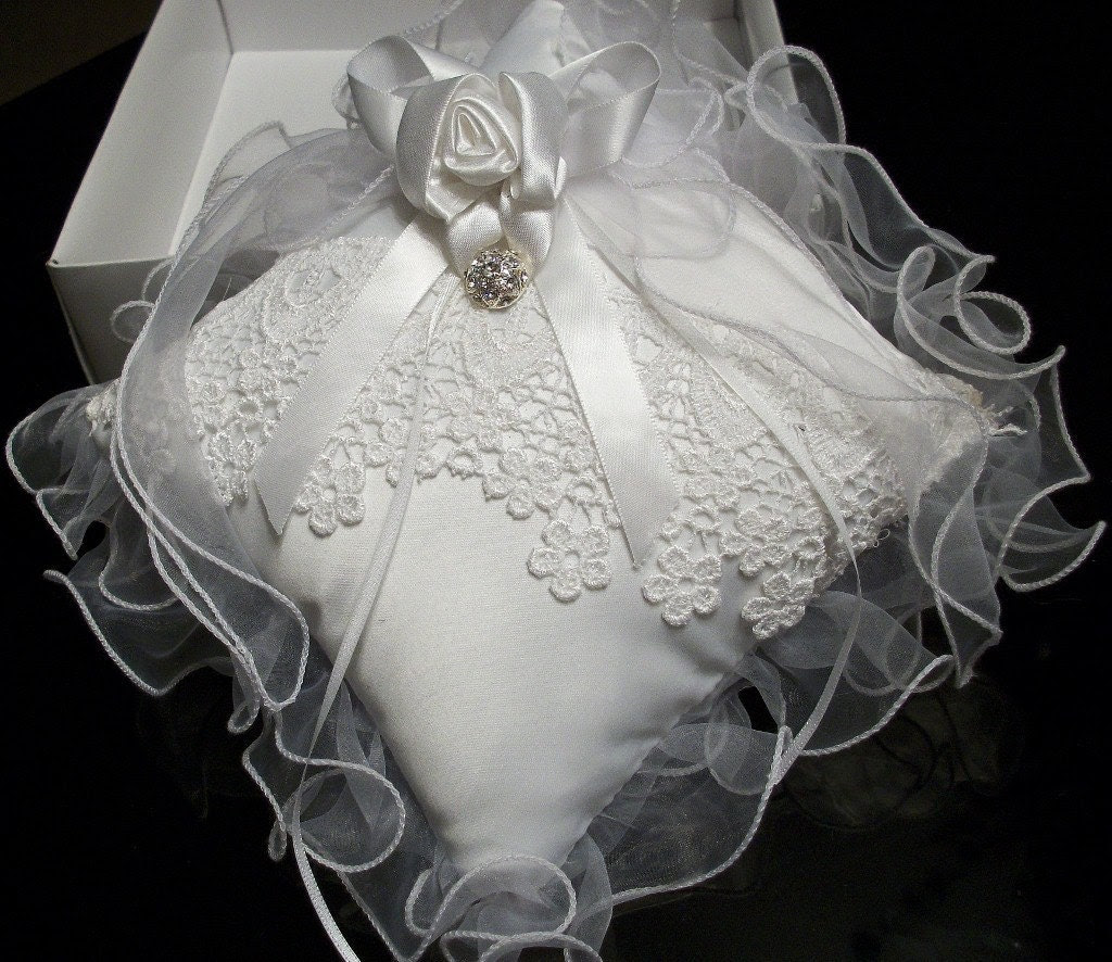 Ring Bearer Pillow Bridal Lace