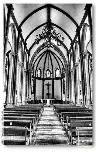 Interior da Igreja Nova de S. José b/w by VRfoto