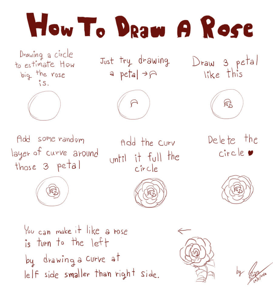Tips Galore How To Draw A Rose