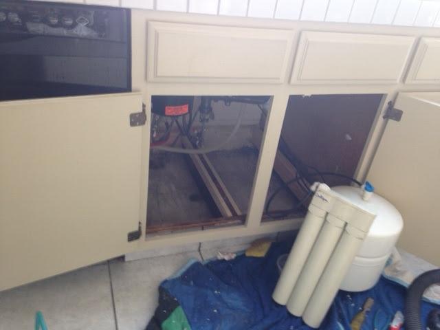 Water Damaged Kitchen Cabinet Repair