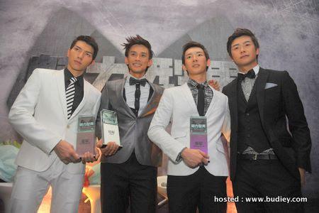 Winners (L-R) John Lee (1st runner-up & winner of  Most Photogenic Award), Joel Sih (winner of The Perfect Gentleman), Jake You (2nd runner-up), Chong Kong Jie (winner