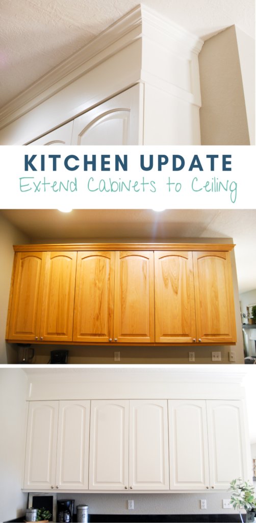 Kitchen Update Extend Cabinets To Ceiling Emilys Project