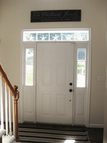 Pewter Sage Foyer Update Black Front Door
