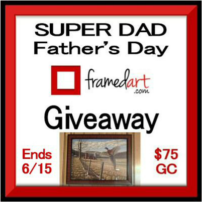 #WIN! $75 FramedArt.com GC - Super Dad #FathersDay #Giveaway ends 6/15 #FathersDayGifts #DadsDay
