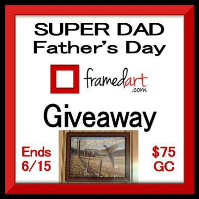 #WIN! $75 FramedArt.com GC - Super Dad #FathersDay #Giveaway ends 6/15 #FathersDayGifts #DadsDay