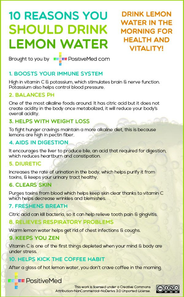 10 Reasons You Should Drink Lemon Water