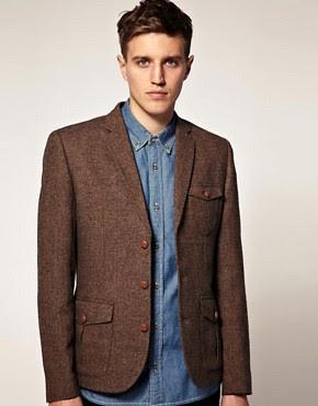 ASOS Slim Fit Tweed Blazer