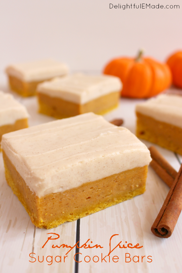 Pumpkin Spice Sugar Cookie Bars by DelightfulEMade