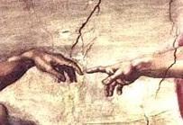 Michelangelo Buonaroti, Creation of Adam, Sistine Chapel, 1510