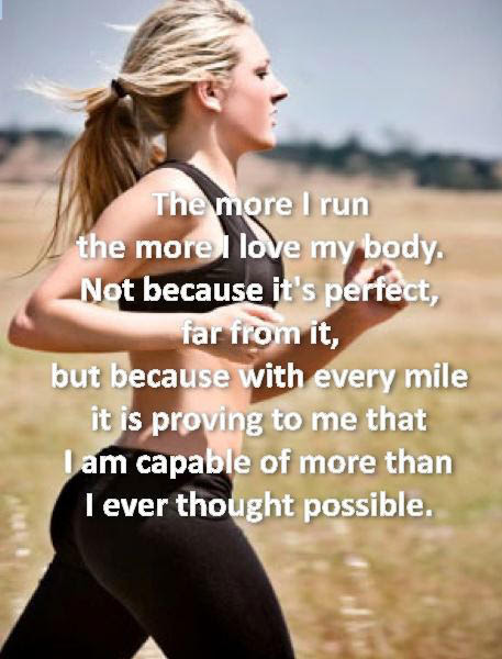 Runner Things 2393 The More I Run The More I Love My Body Not