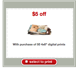 target photo coupon 50 Free 4x6 Photo Prints at Target!
