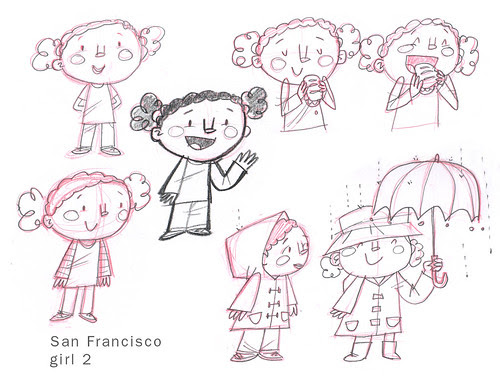SF Girl sketches 2