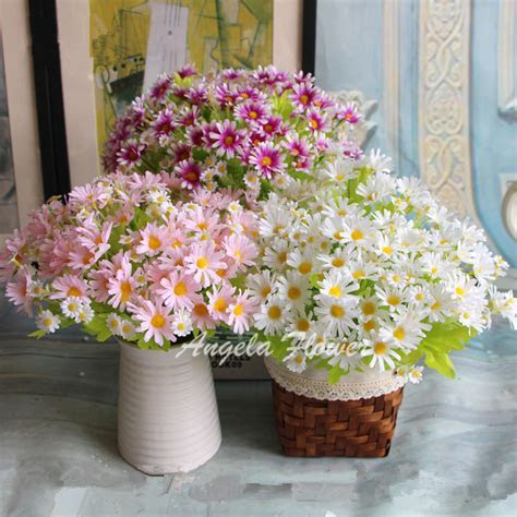 Spring colorful silk daisy artificial flower for wedding