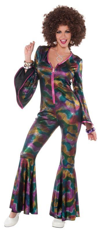deluxe sexy 70's disco diva ladies fancy dress costume hen