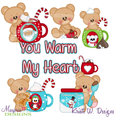 Marshmallow Loves Cocoa Cutting Files Includes Clipart