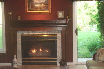 Finished lower level with fireplace HomeRome.com