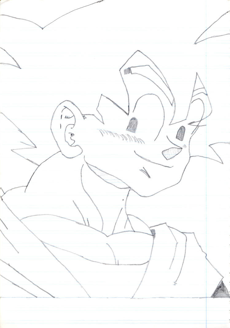 Son Goku Sketch Portrait