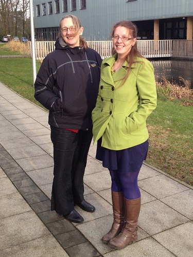 Helaina and Kathryn survey the campus whilst planning for the 2013 meeting by Soil & Water Science
