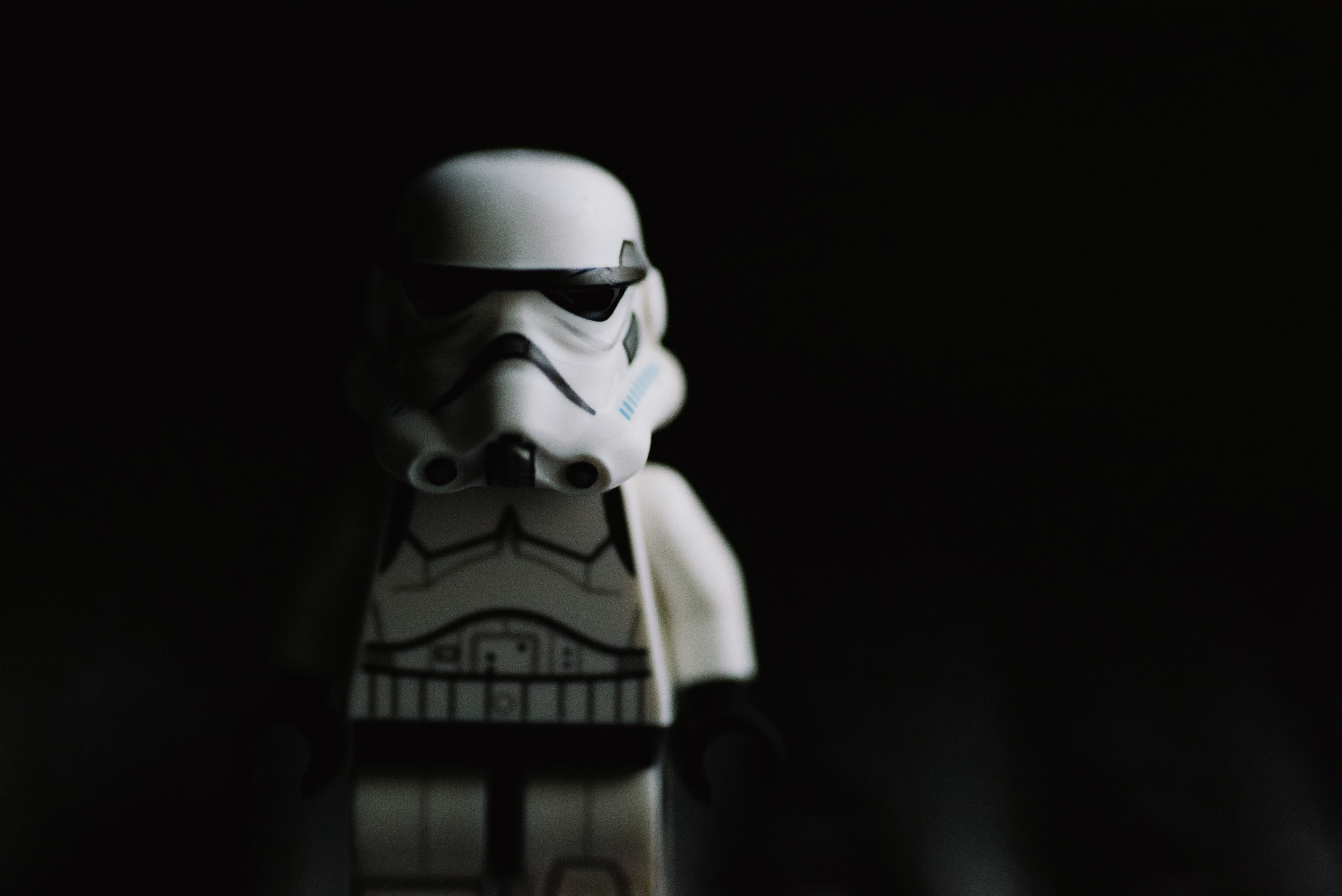 Black And White Macro Star War And Toy Hd 4k Wallpaper And Background