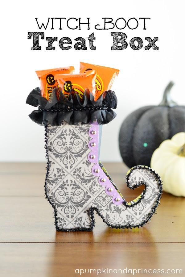 Zapato de Bruja para dulcero, recuerdo o souvenir de Halloween.