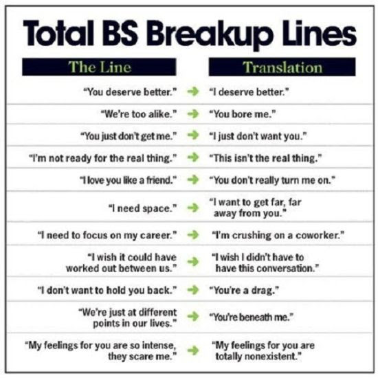 Break Up Lines Funny Pictures Quotes Pics Photos Images