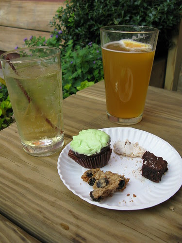 Booze and brownies