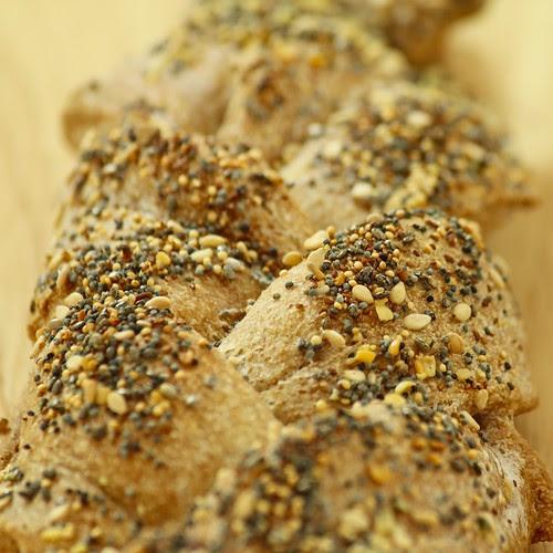 Whole Wheat Braided Bread Closeup