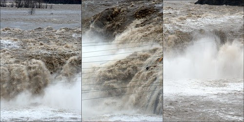 Cohoes Falls triptych