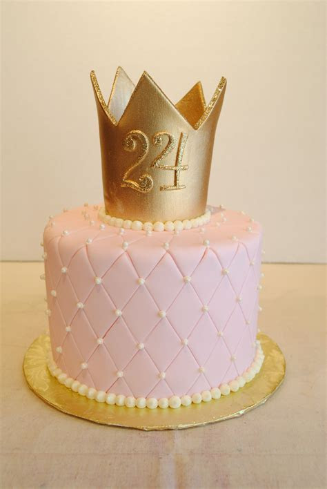 Princess cake. Fondant quilted pin cushion with gold crown