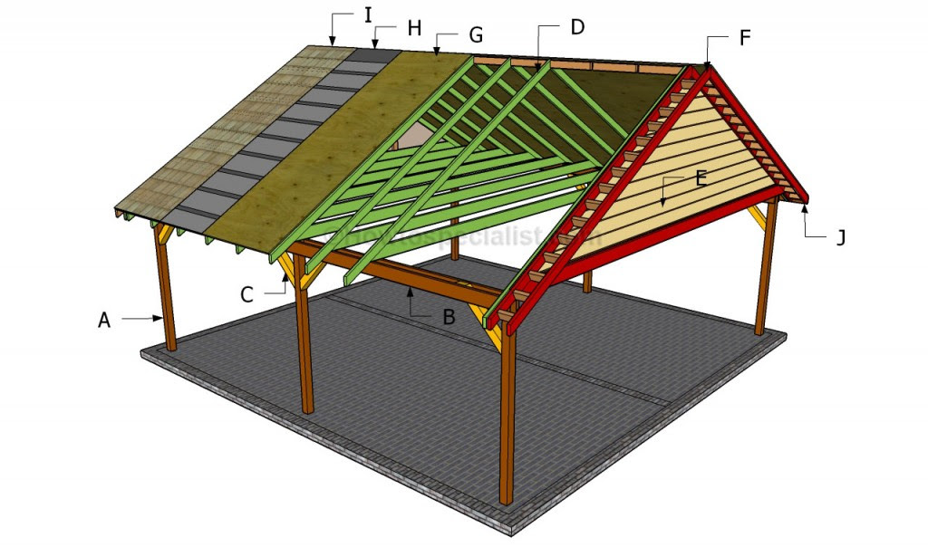 Wood Frame Carport Plans PDF Woodworking