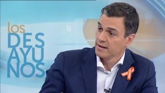 Pedro Sánchez, el líder del PSOE, a TVE