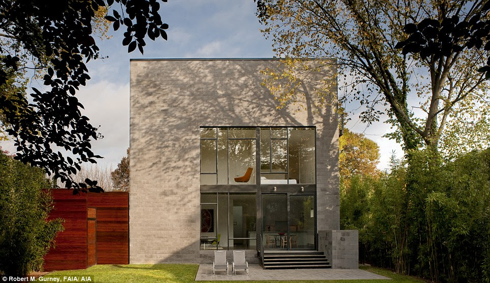 Bethesda: Hampden Lane House is designed as a cube and is approximately 2200 square feet