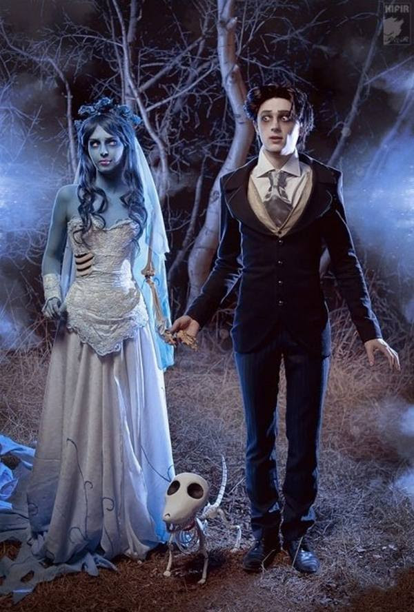 scary creative unique couples halloween costumes ideas ghost couple