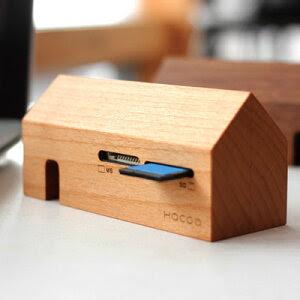 ■【送料無料】データを処理する小さな工場。天然無垢材を贅沢に使用した木製カードリーダー「Card Reader Factory」北欧風デザイン