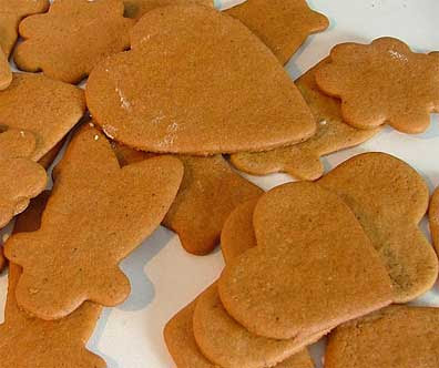 Pepparkakor or ginger snaps or maybe even ginger cookies.