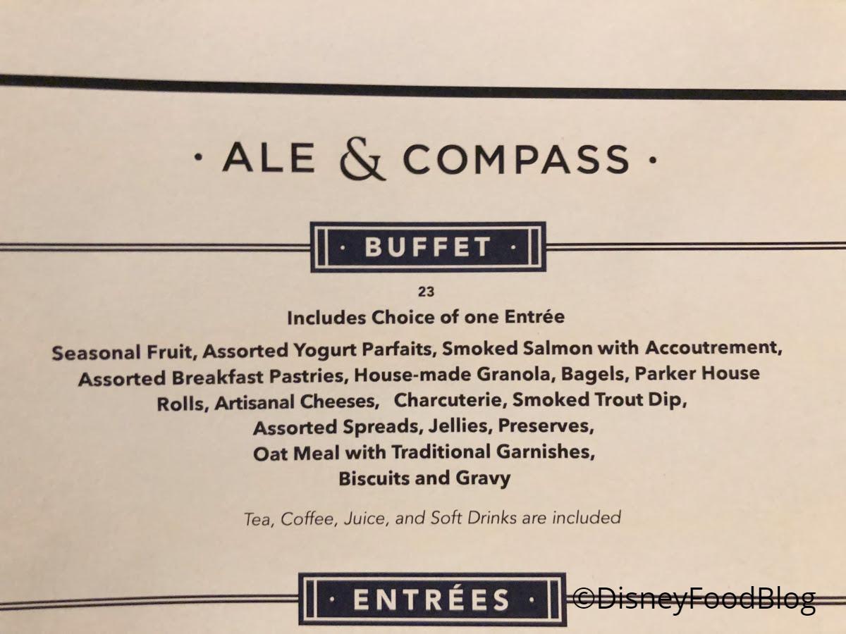 News: Breakfast Buffet Returns to Yacht Club's Ale & Compass Restaurant!