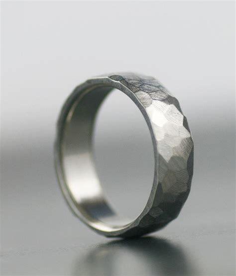 Men's Wedding Band   950 Palladium, 14K White Gold