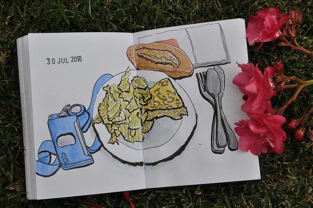 Drawing my breakfast