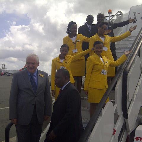fastjet inaugural flight in Dar es Salaam (fastjet)