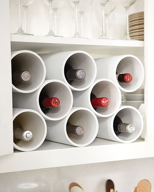 PVC pipe wine bottle rack