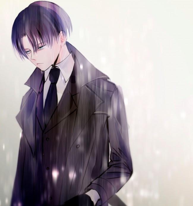 Wallpaper Levi Ackerman Shingeki No Kyojin Suit Raining Wallpapermaiden