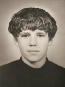 My passport picture around my 15th birthday in 1970
