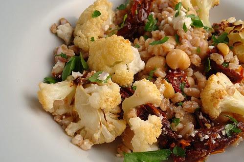 Roasted Cauliflower and Farro Salad