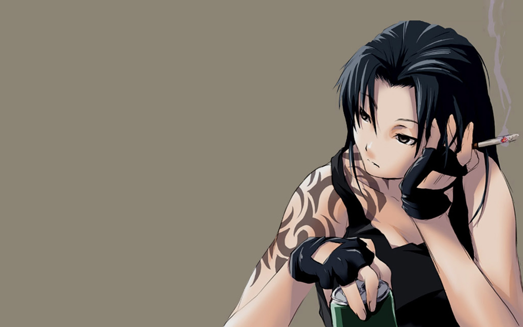 Black Lagoon Revy Art Black Hd Desktop Wallpaper