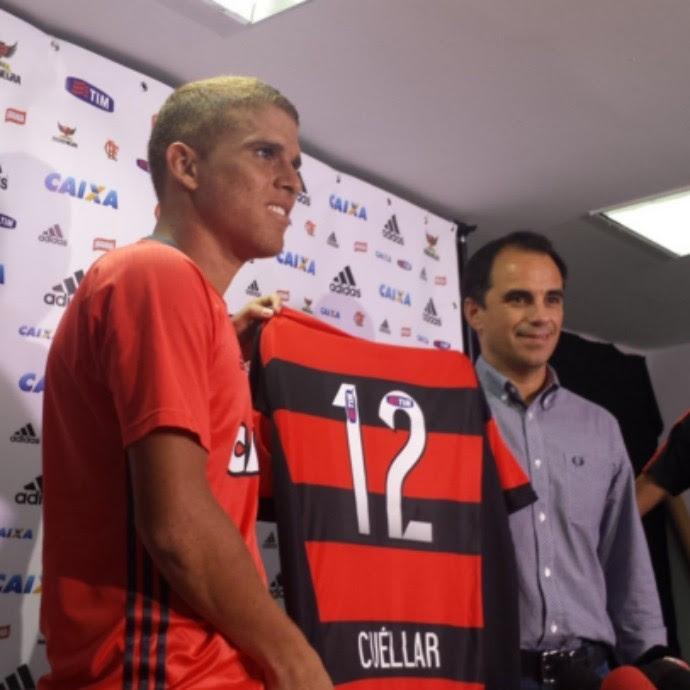 Cuéllar - Rodrigo Caetano - Flamengo (Foto: Raphael Zarko)